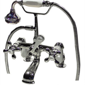British Telephone Style Deck Mount Faucet with Adjustable Centres - KN627C-0