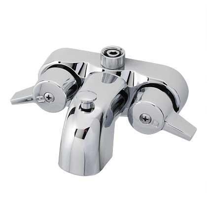 Diverter claw tub faucet