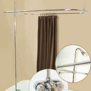 Claw tub shower enclosure set