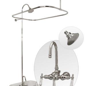 Claw tub shower enclosure