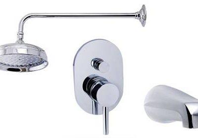 Wall mount tub & shower set