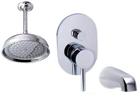 Ceiling mount tub & shower set