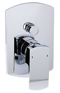 Optional rectangular shower valve