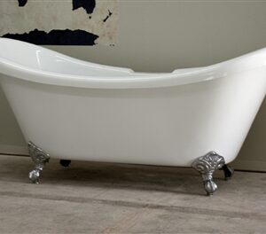 "67"" double slipper claw tub"
