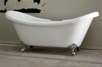 "67"" double slipper claw tub"