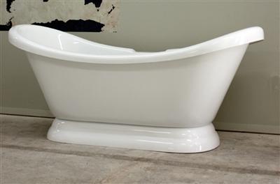 "67"" double slipper pedestal tub"