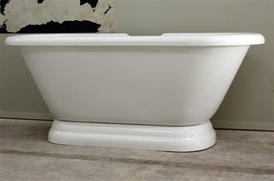 "67"" double ended pedestal tub"