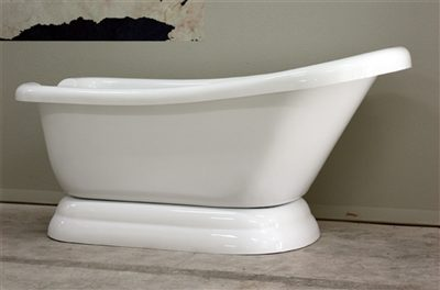 "67"" single slipper pedestal tub"