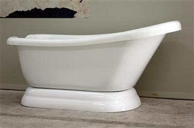 "67"" single slipper pedestal tub"