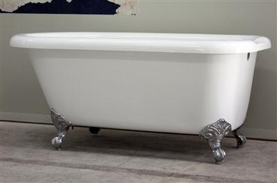 """59"""" acrylic claw tub"""
