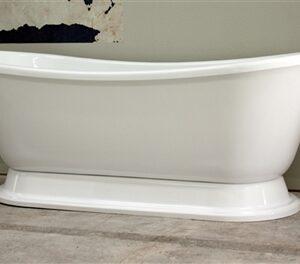 French Bateau pedestal tub