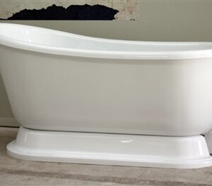 "54"" Swedish Slipper pedestal tub"