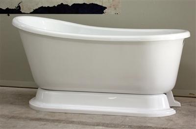 "54"" Swedish Slipper pedestal tub"