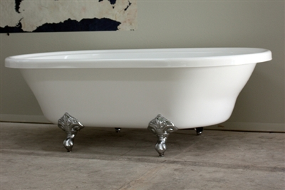 Extra large double ended claw tub