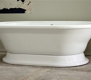 Extra large double ended pedestal tub